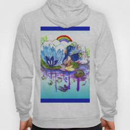 The blue lily water Hoody