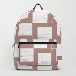 Geometric Neutrals 04 - Abstract Shapes Japanese Paper Backpack