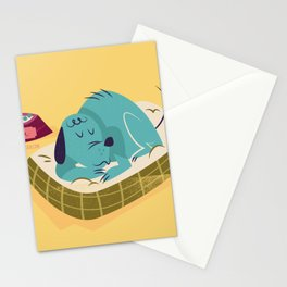 :::Sleeping pet dog::: Stationery Cards