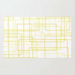 Yellow Line Pattern Rug