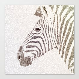 The Intellectual Zebra Canvas Print