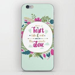 """Here's My Heart"" Hymn Lyric iPhone Skin"
