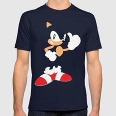 Sonic the Hedgehog - SEGA - Minimalist Mens Fitted Tee Navy MEDIUM