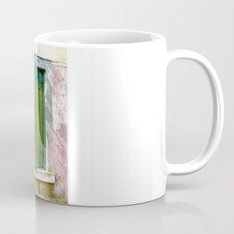 Old green window Coffee Mug