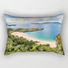 Sheephaven Bay 4k summer coast County Donegal Ulster Ireland UK Great Britain beautiful nature Rectangular Pillow