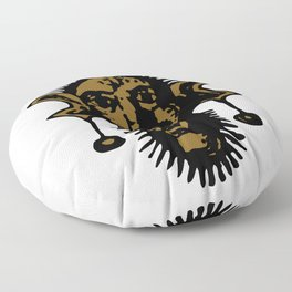 Brown Fierce Primal Tribal Mask, Wild Mask, Super Smooth Super Sharp 13500px x 10125px PNG Floor Pillow