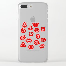 Vehicle Dash Warning Symbols Clear iPhone Case