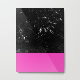 Pink Meets Black Marble #1 #decor #art #society6 Metal Print
