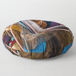 Tools of the Trade - Cowboy Saddle Closeup Floor Pillow