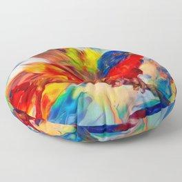 Rainbow Bird Floor Pillow