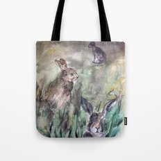 Hare Sketch #1 Tote Bag