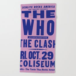 Los Angeles Concert 1982 Beach Towel