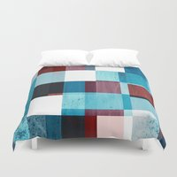 patriotic Duvet Covers featuring Patriotic Grid by plaidGecko
