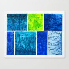 Blue Block Canvas Print