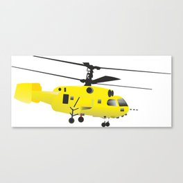 Yellow Helicopter Canvas Print