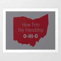 ohio state Art Prints featuring OHIO by Amanda Pavlich