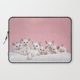 Bedtime for Seven Fluffy White Kittens Laptop Sleeve