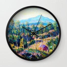 Ernest Lawson - New England Birches - Digital Remastered Edition Wall Clock