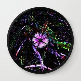 Purple Poof Wall Clock