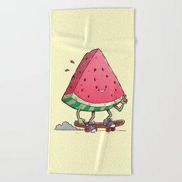 Watermelon Slice Skater Beach Towel