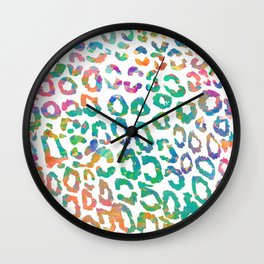 Aqua Leopard Wall Clock