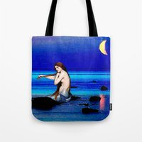 pisces Tote Bags featuring Pisces by Danielle Tanimura