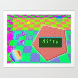 Nifty, Dude Art Print