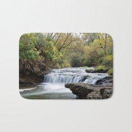 Briggs Woods Lower Waterfall in Autumn Bath Mat