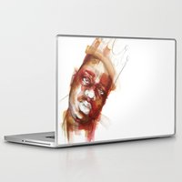 biggie smalls Laptop & iPad Skins featuring Biggie  by Allison Kunath