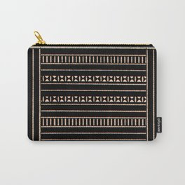 Vintage Black and Tan Pattern Carry-All Pouch
