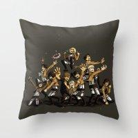 snk Throw Pillows featuring SNK by kanda3egle
