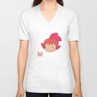 ponyo V-neck T-shirts featuring Ponyo by Etiquette