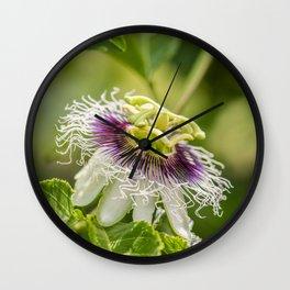 Passionflower Magic Wall Clock