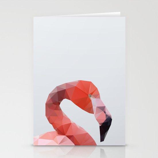 Geometrical - Flamingo Stationery Cards