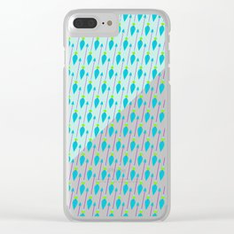 Artistic green teal hand painted bohemian arrows Clear iPhone Case