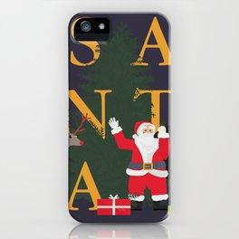Santa Poster iPhone Case