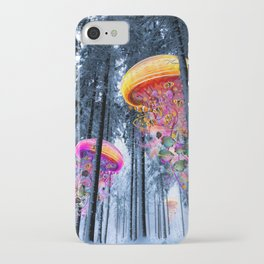 Winter Forest of Electric Jellyfish Worlds iPhone Case