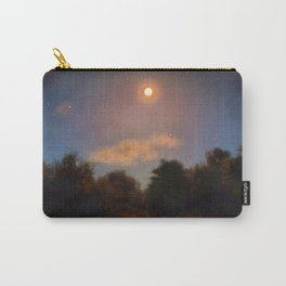 Moon and Trees Painted Carry-All Pouch