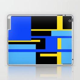 Rectangles - Blues, Yellow and Black Laptop & iPad Skin
