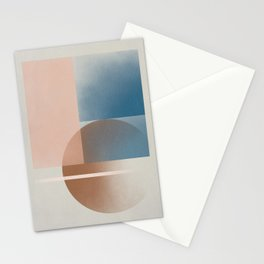 When geometry smiles Stationery Cards
