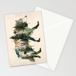Wolf is the Pride of Nature Stationery Cards