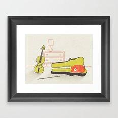 Cat & Violin Framed Art Print