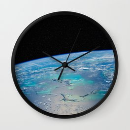 Caribbean Sea from space Wall Clock