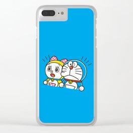 Doraemon with Dorami Clear iPhone Case