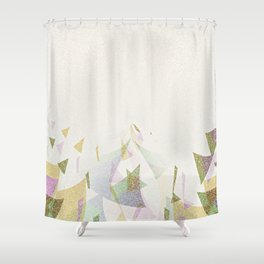 #Retro flying  #triangles Shower Curtain