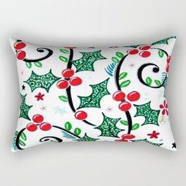 Christmas Curls Rectangular Pillow