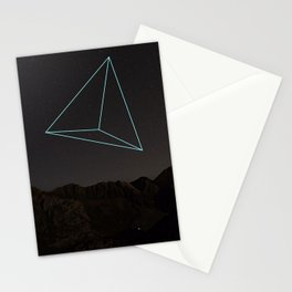 TRIANGULAR SPACE AND SHAPE Stationery Cards