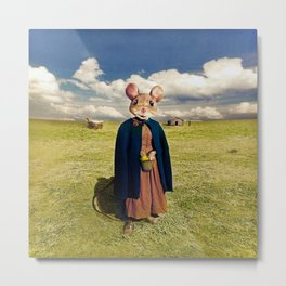 Little Mouse on the Prairie Metal Print