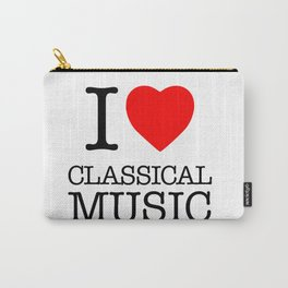 I Love Classical Music Carry-All Pouch