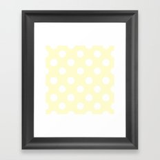 Polka Dots (White/Cream) Framed Art Print